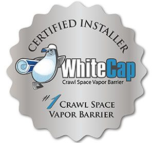 WhiteCap crawlspace system certified installer logo