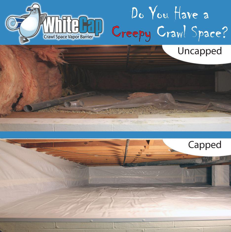 Before and After WhiteCap Encapsulation Installation